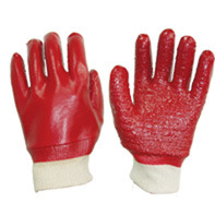Cotton Gloves with Fully PVC Coated PV503 pictures & photos