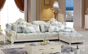 Silver Color Royal Sofa, Fabric Sofa, New Classic Sofa (A889) pictures & photos