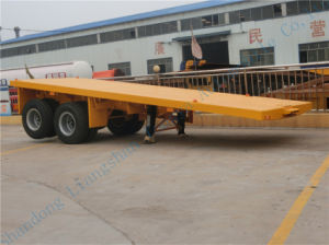 China Brand Ctac Two-Axle Flat Bed Smei Trailer pictures & photos