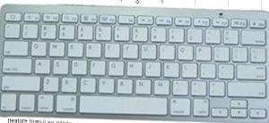 Ultra-Thin White Mini Wireless Bluetooth Keyboard