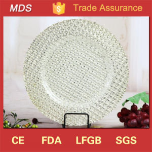 Hot Gorgeous Unique Diamond Pattern Glass Dinner Plates pictures & photos