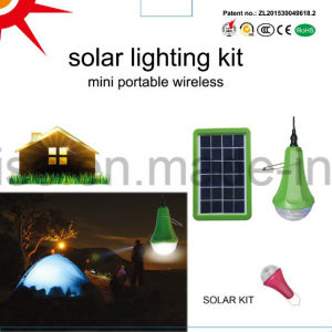 Solar Lighting System Home Camping LED 5W 2800mAh Lithium Battery Solar Kit Light pictures & photos