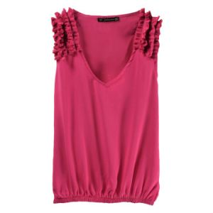 New Design Women′s V-Neck Tank Top pictures & photos
