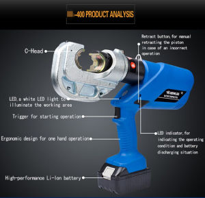 Fast Crimping 360 Degree Rotation Battery Hydraulic Tool pictures & photos