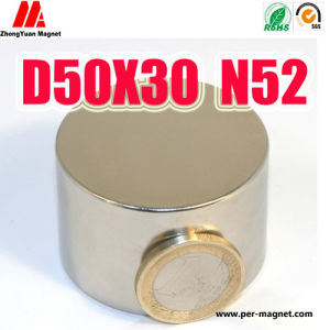 Big Permanent Cylinder NdFeB Neodymium Magnet for Industry