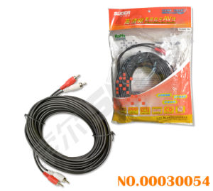 2 RCA to 2 RCA Audio/Video Cable (AV-844A-10M-white-red packing) pictures & photos