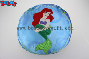 Round Stuffed Pillow with Embroidery Little Mermaid Girl pictures & photos