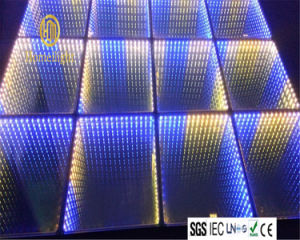 Illusion Panel Mirror Infinity with Abyss Effect 10mm Tempered Glass 3in1 RGB SMD5050 3D LED Dance Floor pictures & photos