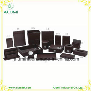 Alumi Customized Black Leather Hotel Amenity pictures & photos