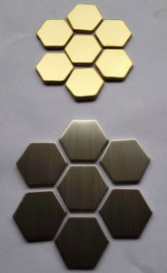Decorative Hexagon Stainless Steel Metal Mosaic pictures & photos