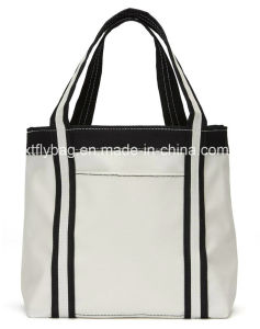 Eco-Friendly Cotton Shopping Handbags Tote Bags with Front Pocket pictures & photos