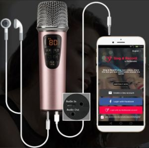 Portable Mic for Andriod iPhone PC Karaoke with Original Songs Vocal on/off Function pictures & photos