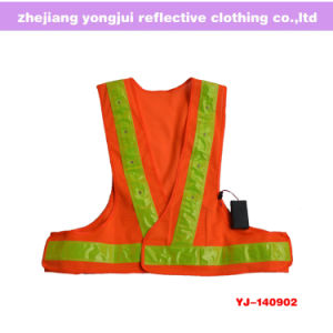 Hi-Visibility Reflective Safety LED Mesh Vests