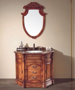 Soild Wooden Furniture Bathroom Cabinet (NJ-621) pictures & photos