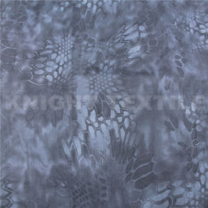 PU Coated 500d Nylon Cordura Kryptek Camo Fabric in Black (KNCOR500-77)