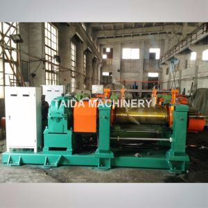 Automatic Hardened Gear Drilled Two Roll Rubber Open Mixing Mill Machine Xk-400, 450, 560, 610 pictures & photos