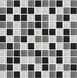 Black White Grey Mixed Glass Mosaic Tile pictures & photos