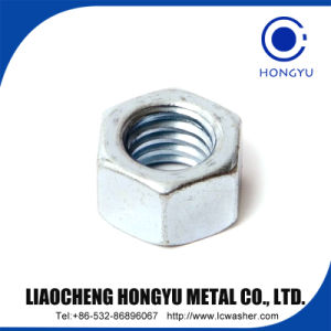 Zp Plain Carbon Steel Hex Nut DIN934 pictures & photos