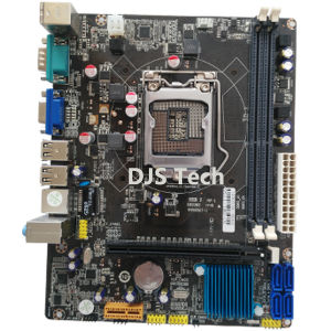 Best Sales H61-1155 Computer Mainboard with 2*DDR3/4*SATA/4*USB pictures & photos