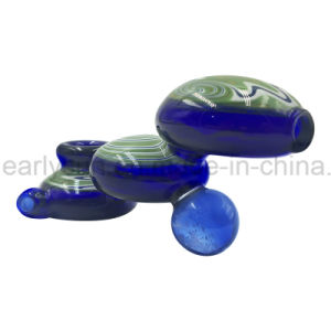 Three Layers Circular Green Colored Platform Glass Hand Pipe (ES-HP-175) pictures & photos
