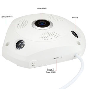 Home Security HD 3.0MP Fisheye 360 Degree Panorama WiFi Vr Camera pictures & photos