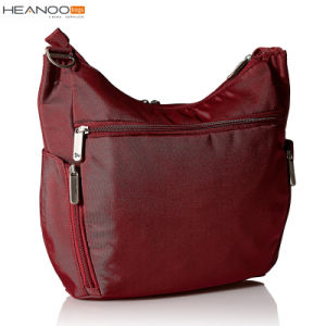 Cranberry Black Classic Bucket Heritage Fabric Hobo Crossbody Anti-Theft Bag pictures & photos