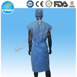 Disposable Child′s Patient Gown with Tie on The Waist pictures & photos