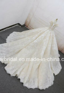 Cap Sleeves Bridal Gowns Lace 3D Flowers Puffy 2018 Wedding Dresses Z8020 pictures & photos