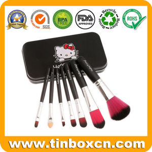 Rectangular Cosmetic Tin Box for Makeup Brush Kit pictures & photos