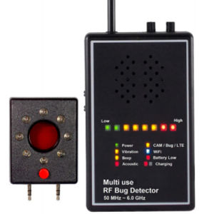 Versatile Detector RF Bug Sweeper with Audio Verification Lens Finder Acoustic Display Signal Detector Anti Candid Anti Wiretapped Alarm System for Security pictures & photos