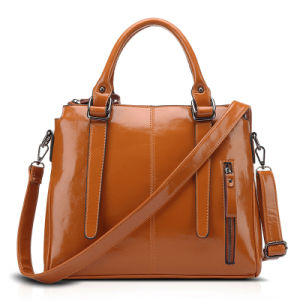 PU Leather Handbag for Women, Oil Wax Package, Multi Colors, 32*27*10cm pictures & photos