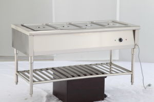 4 Pan Stainless Steel Fast Food Buffet Display /Warmer Trolly pictures & photos