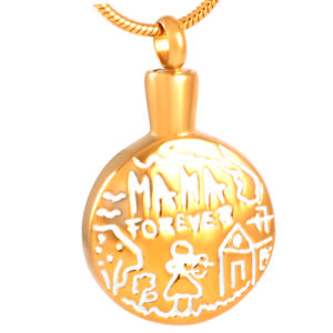 Gold Plated Cremation Jewelry Urn Pendant Necklace for Ash Wholsesale pictures & photos