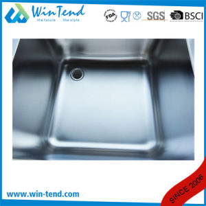 Commercial Stainless Steel Kitchen Sink with Backsplash pictures & photos