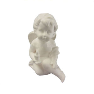 Agenl Shaped Ceramic Craft, Cute Baby Angel with White Glaze pictures & photos