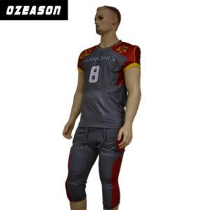 OEM Custom Wholesale Cheap Team Set American Football Uniforms pictures & photos