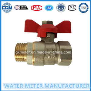 Brass Control Type Ball Valves for Water Meter, Dn15-40mm pictures & photos