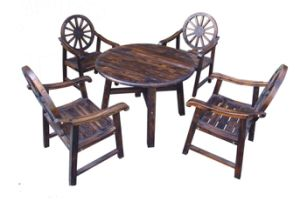 Hot Selling Outdoor Wooden Dining Set for Garden with Four Chairs pictures & photos