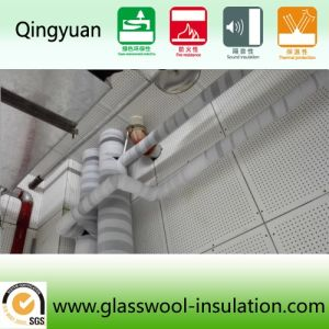 White Wool Board for Acoustic and Fire Protection (600*600*250) pictures & photos