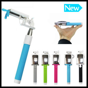 Cheap Mirror Support Wired Selfie Stick for Android and Ios Monopod