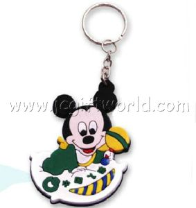 Promotion 3D Soft PVC Keychain Custom Rubber Key Chain