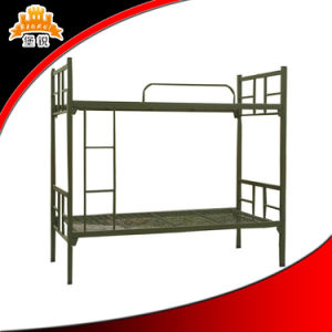 2016 Popular Cheap Military School Steel Double Bed pictures & photos