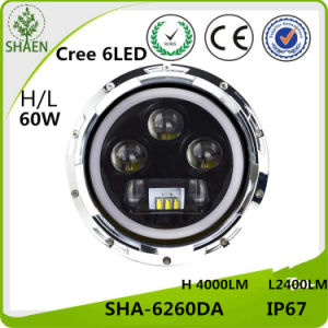 H/L LED Car Headl Ight for Jeep 60W 7 Inch pictures & photos