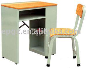 Hot Sale School Furniture Single Desk & Chair pictures & photos