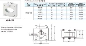 Indoor Service Split Core Current Transformer (MSQ-100) pictures & photos