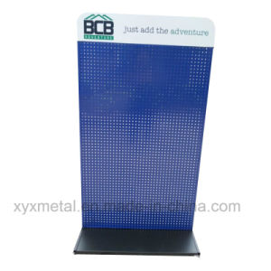 Customized Logo Banner Steel Structure Metal Pegboard Display Stand pictures & photos