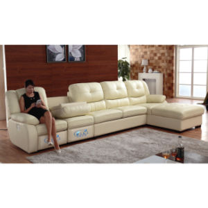 Modern Living Room Leather Recliner L-Shape Coner Sofa 6047L pictures & photos