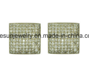 Sterling Silver Jewelry Micropave Stud Earring with Different Shape pictures & photos