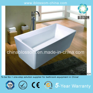 Rectangle Soaking Classical Acrylic Freestanding Bath Tub (BLS-5824) pictures & photos