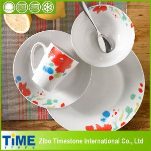 16PCS Porcelain Ceramic Dinner Set with Floral Design (TM01066) pictures & photos